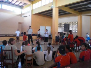 Teaching at the Orphange